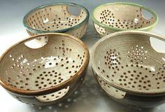 Bridges Pottery: Colanders