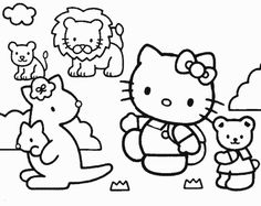 Hello Kitty Zoo Coloring Pages