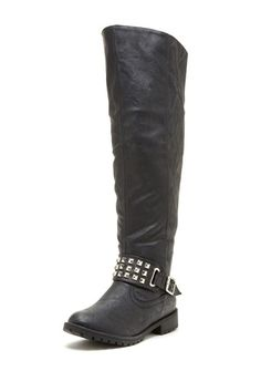 Carrini Studded Tall Boot by Colorful Boot Shop on @HauteLook