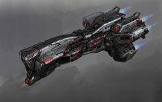 ArtStation - Battle Ship concept art for Rebant VR game, Galan Pang