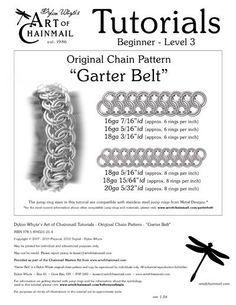 Dylon Whyte`s Art of Chainmail Tutorial - Original Chain Pattern - Garter Belt