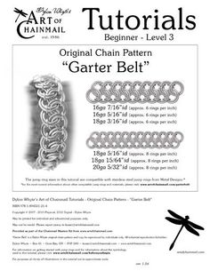 Dylon Whyte`s Art of Chainmail Tutorial - Original Chain Pattern - Garter Belt eCrafty.com