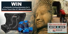 Enter to win a cycling tour for 2 people in Cambodia, PLUS a sweet Scicon bike travel case & rain bag PLUS 2 Mindshift backpacks - Valued at over $2,200!
