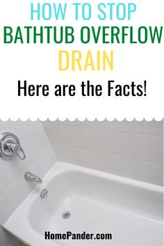 There are many ways to seal off bathtub overflow drain, both permanently or temporarily. Here is how to stop bathtub overflow drain at home and DIY bathtub overflow drain cover by yourself. Best Cleaning Products, Cleaning Hacks, Cleaning Supplies, Diy Bathtub, Bathtub Drain, Drain Cover, Seal, Facts, Cleaning Agent