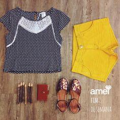 Para dias de sol ✨ #lojaamei #short #Cropped #mostarda #bronze #sandália #️sol