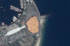 Artista britânico INSA cria gif animado com ajuda de satélite No Rio!
