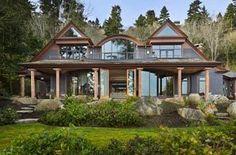 Bainbridge Island beach home by architect Nate Thomas Pacific Northwest Style, Yard Furniture, Bainbridge Island, House Yard, Residential Architecture, Exterior Design, Beautiful Homes, Beach House, House Design