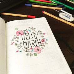 Getting ready to bullet March! #BulletJournal