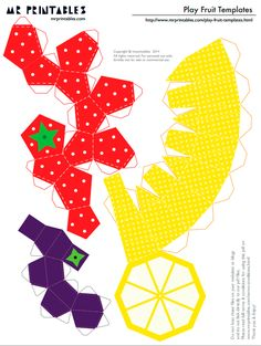Ideas for fruit diy paper Paper Crafts Origami, Diy Paper, Paper Fruit, Fruit Crafts, Diy And Crafts, Crafts For Kids, Papier Diy, Paper Models, Paper Toys