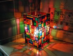 DIY Stained Glass Luminary