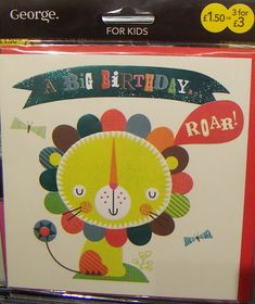greetings cards in Asda where some more contemporary designs have recently been appearing.print & pattern