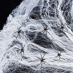 Exquisitheart 1000sqft Fake Spider Web Halloween Decorations 60