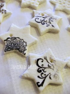 HandMade by Gio: Decorazioni natalizie in pasta di mais: tutorial!