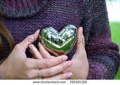 Birch and heart - stock photo