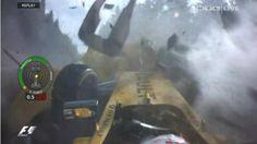 Monster-Unfall! Kevin Magnussen verliert sein Auto ausgangs der Eau-Rouge-Kurve…