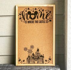 Home Is Where the Castle Is Pin Board (Disneyland) Disney Theme, Disney Diy, Disney Crafts, Disney Kitchen Decor, Disney Home Decor, Disney Room Decorations, Disney Bathroom, Cork Crafts, Crafts To Sell