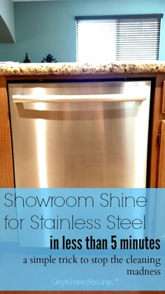 Tired of spotty, streaky kitchen appliances? This is a simple trick restoring showroom shine to stainless steel. And the solution is GENIUS! I so need this tip for Spring cleaning! Household Cleaning Tips, House Cleaning Tips, Spring Cleaning, Cleaning Hacks, Cleaning Checklist, Cleaning Stainless Steel Fridge, Cleaning Appliances, Clean Stainless Appliances, Diy Stainless Steel Cleaner