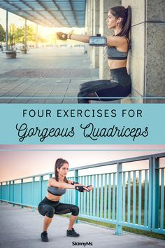 Four Exercises for Gorgeous Quadriceps Leg Day Routine, Best Workout Routine, Workout Routines For Women, Butt Workout, Workout Challenge, Leg Workouts, Workout Plans, Ripped Body, Thigh Muscles
