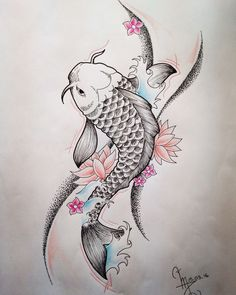110 Best Japanese Koi Fish Tattoo Designs and Drawings - Piercings Models Japanese Koi Fish Tattoo, Koi Fish Drawing, Fish Drawings, Tattoo Drawings, Body Art Tattoos, Art Drawings, Japanese Tattoos, Circle Tattoos, Owl Tattoos