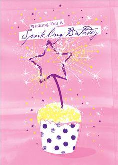 Debbie Edwards - Female Birthday Juvenile Birthday Cupcake With Sparklers Happy Birthday Woman, Happy Birthday Text, Happy Birthday Beautiful, Birthday Posts, Happy Birthday Pictures, Happy Birthday Messages, Happy Birthday Greetings, Birthday Greeting Cards, Birthday Fun