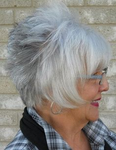 silver Hairstyles Women Over 50 | short haircut for women over 60
