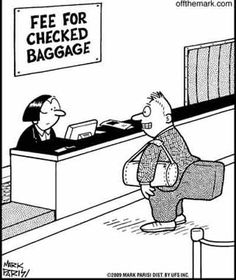 An innovative way to avoid checked luggage fees - but such pain when sitting...  #travel #humor
