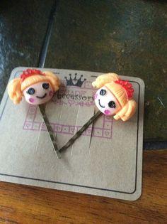 Handmade girl bobby pins on presentation card darling by EMTWTT