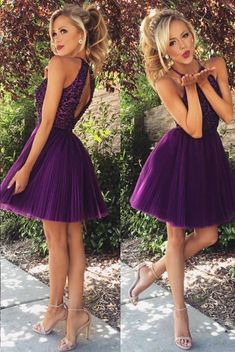 Outlet Nice Homecoming Dresses Purple, Short Prom Dress, Homecoming Dresses Open Back Prom Dress High Neck Prom Dresses 2019 Prom Dresses Prom Dresses Short Homecoming Dress Wedding Dress Homecoming Dresses 2019 Mini Prom Dresses, Open Back Prom Dresses, Dresses Short, Hoco Dresses, Junior Bridesmaid Dresses, Dance Dresses, Pretty Dresses, Sexy Dresses, Beautiful Dresses