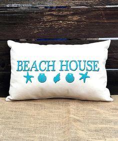 Loving this 'Beach House' Throw Pillow on #zulily! #zulilyfinds
