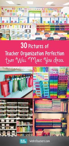 30 Pictures of Teacher Organization Perfection that Will Make You Drool. All this teacher organization is going to make you want to label and color-code everything in your classroom. Classroom Organisation, Teacher Organization, Classroom Design, Classroom Management, Organized Teacher, First Grade Organization, Organization Ideas, Organizing, Classroom Storage Ideas