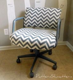 Pattern Shmattern: Office Chair and Living Room Makeover