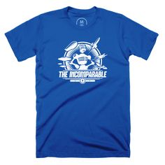 """""""The Incomparable Logo"""" designed by The Incomparable Podcast. Our Incomparable robot mascot (with a microphone for a head!) leads his army of fierce creatures into battle."""