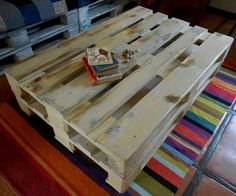 Coffee table re-purposed pallets by  jasper and george