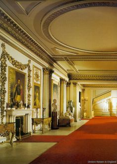In side Buckingham Palace: THE MARBLE HALL : this is the way to the Grand Staircase which leads to the State Apartments