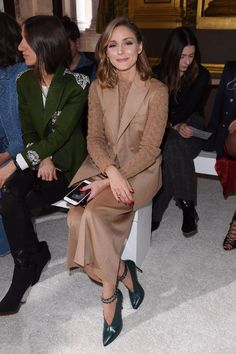 olivia palermo, front row, paris fashion week, Balmain spring 2018