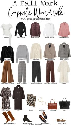 Fall Wardrobe Essentials, Capsule Wardrobe Work, Capsule Outfits, Fashion Capsule, Wardrobe Staples, Capsule Wardrobe How To Build A, Wardrobe Basics, Basic Outfits, Mode Outfits