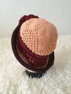 Hand crochet little girl's summer hat from pure cotton.  https://www.etsy.com/uk/shop/SarahValleyShop  https://www.instagram.com/icrochet247/?hl=en