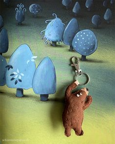 schaeresteipapier: Bilderbuch - Honigbrot gesucht; Den kleinen Bär habe ich als Schlüsselanhänger genäht. Eine Kopie vom Titelbild als Vorlage für den Filz und den Hammer mit einer Schlaufe vertauscht.  Wenn du ein wenig Übung im Nähen von Hand mit Filz hast, ist die Figur in unter einer Stunde fertig. Pendant, Jewelry, Honey Bees, Old Books, Alice In Wonderland, Hand Sewn, Cow, Felt, Primary School
