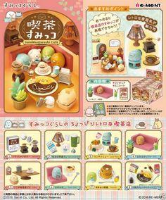 Re-Ment Miniature sanrio Japan Sumikko Gurashi Cafe rement Full set of 8