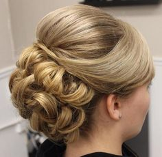 formal updo with a bouffant