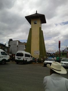 Clock tower in Jacala, Hidalgo, Mexico