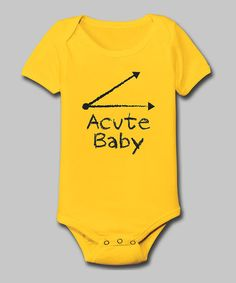 Loving this Yellow 'Acute Baby' Bodysuit - Infant on #zulily! #zulilyfinds