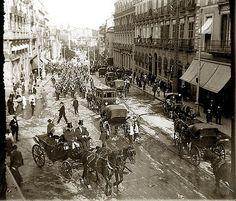 Carrera de San Jerónimo, Madrid 1915