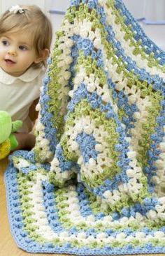 Free Crochet Hexagon Baby Blanket Pattern.