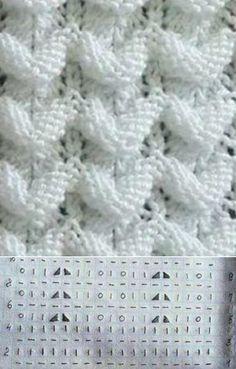 Схема вязания объемного узора спицами // elena prekrasna