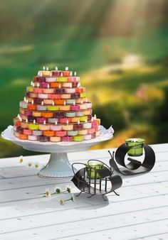 A lovely outdoor garden set up - simple & PartyLite! Eliciaorsbourn.partylite.co.uk
