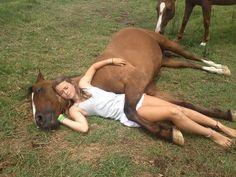 Girls love their horses