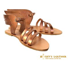 ANCIENT GREEK Leather Sandals  from 100% Full by NickysLeather