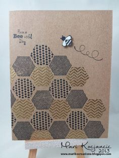 Unity Stamp Company hexagons bee
