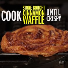The name says it all: Cinnamon Bun Apple Pie Waffle. Welcome to three kinds of cinnamon-y deliciousness stacked on top of each other.